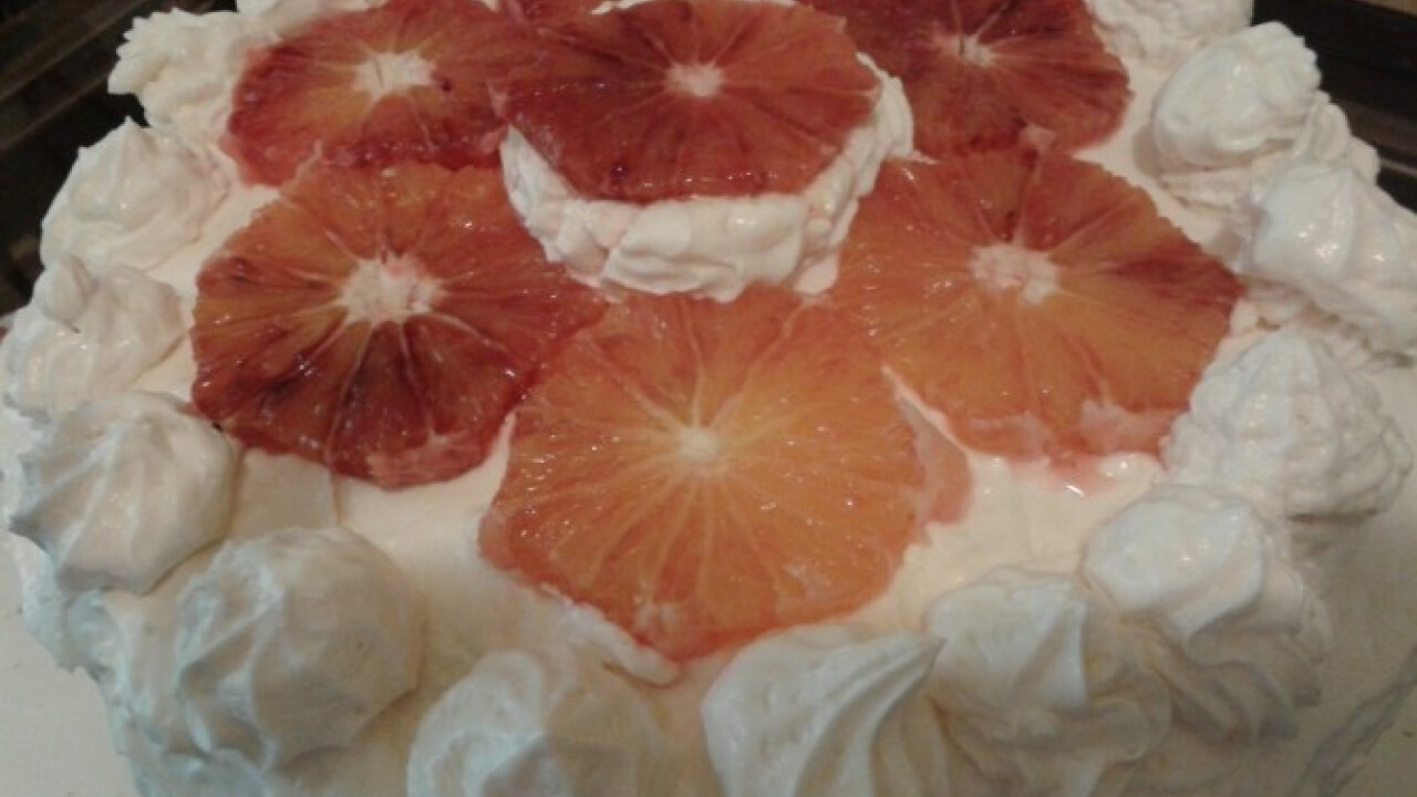 Mascarponés-vérnarancs torta