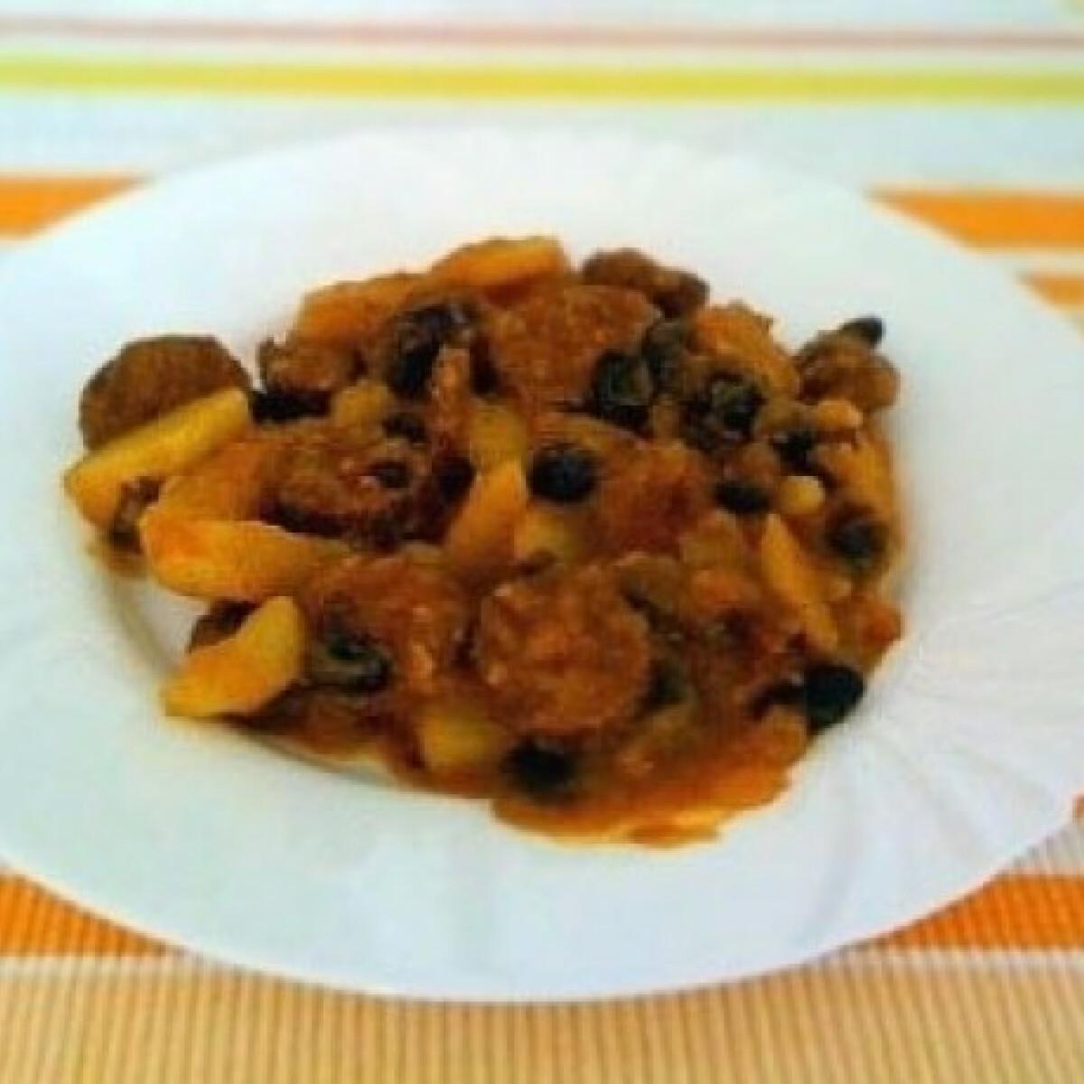 Ezen a képen: Babos paprikás krumpli