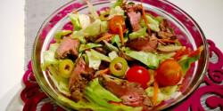 Steak saláta