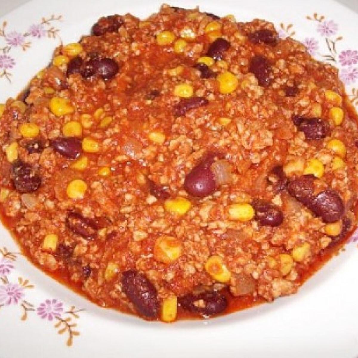 Ezen a képen: Chilis bab Tímejjja konyhájából