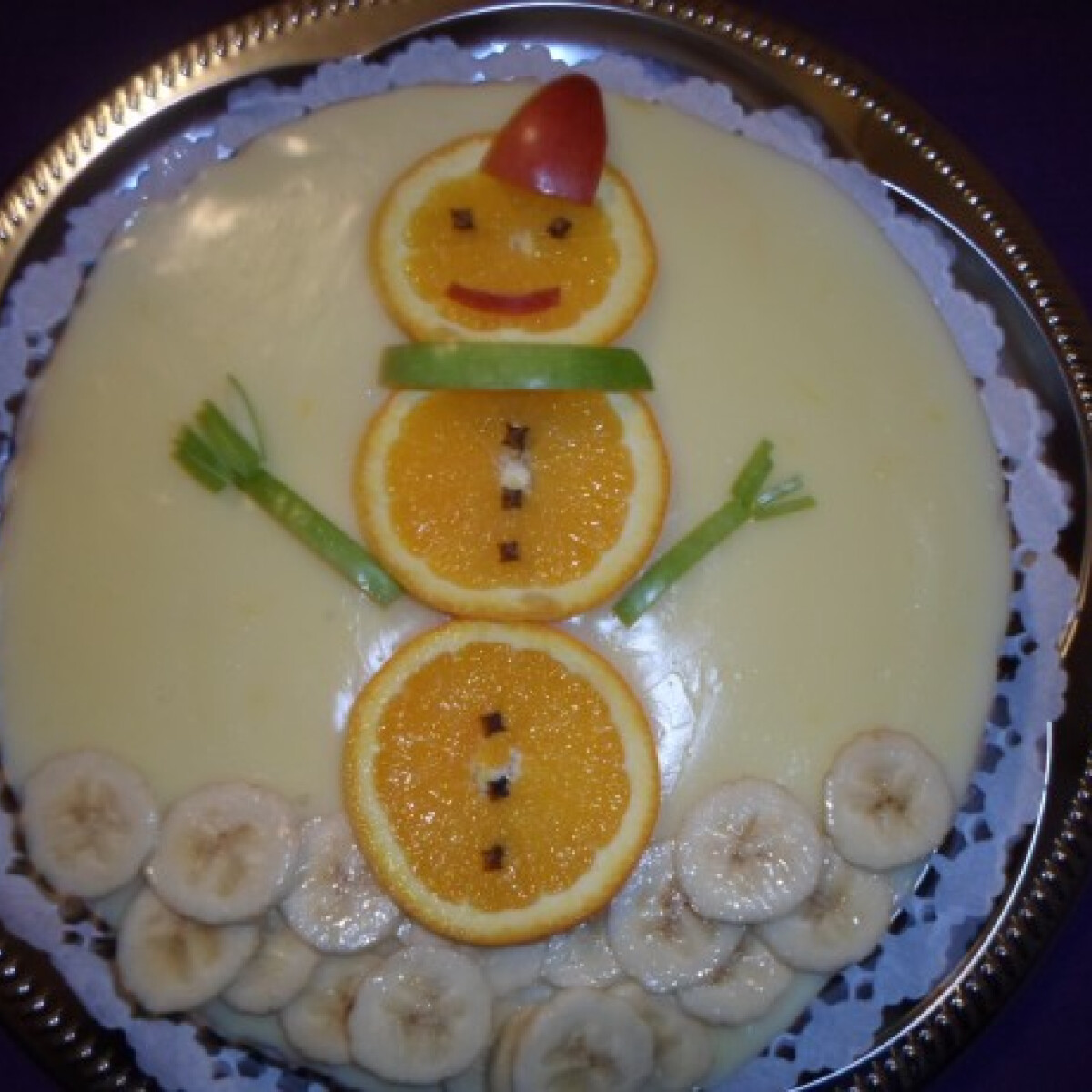Ezen a képen: Narancsos diógubatorta