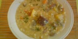 Fejtettlóbab-leves tárkonyos habarással