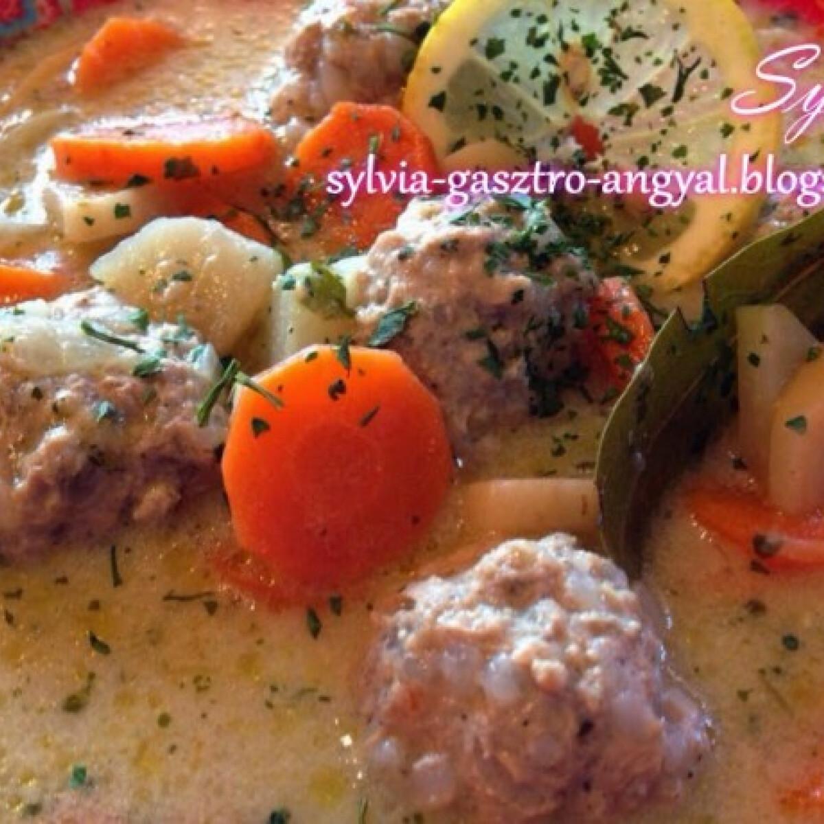 Ezen a képen: Erdélyi csorba húsgombóccal Sylvia Gasztro Angyal konyhájából