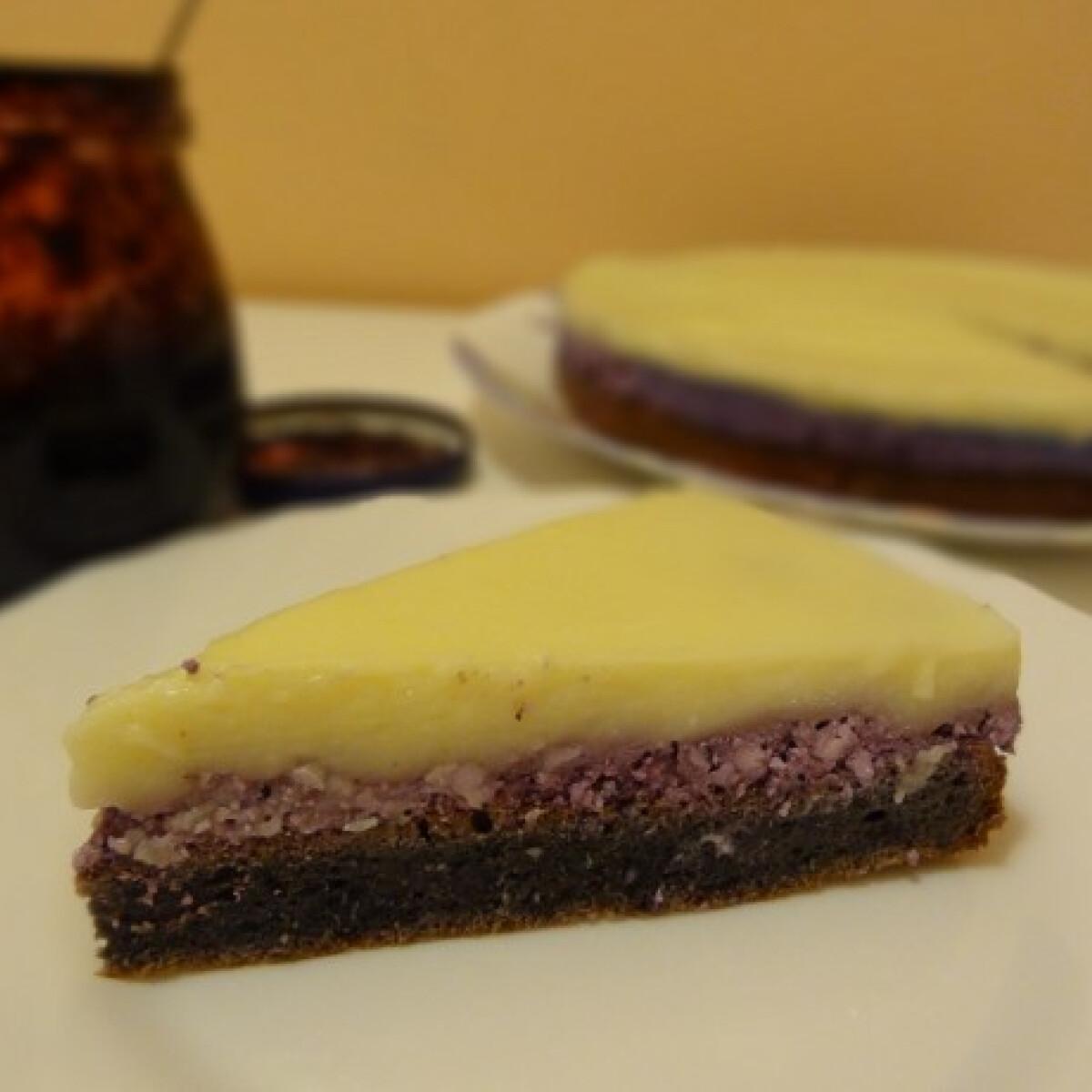 Ezen a képen: Áfonyás-vaníliás süti