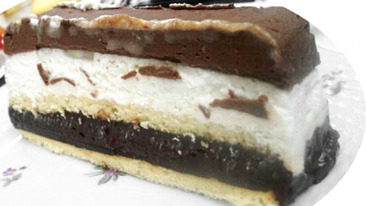 Csokis-tejszínhabos szelet