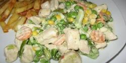 Zöldséges-tejszínes csirkemell