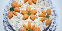 Zabpelyhes-gyümölcsös torta