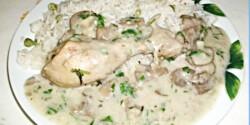 Tejfölös-gombás csirkecomb