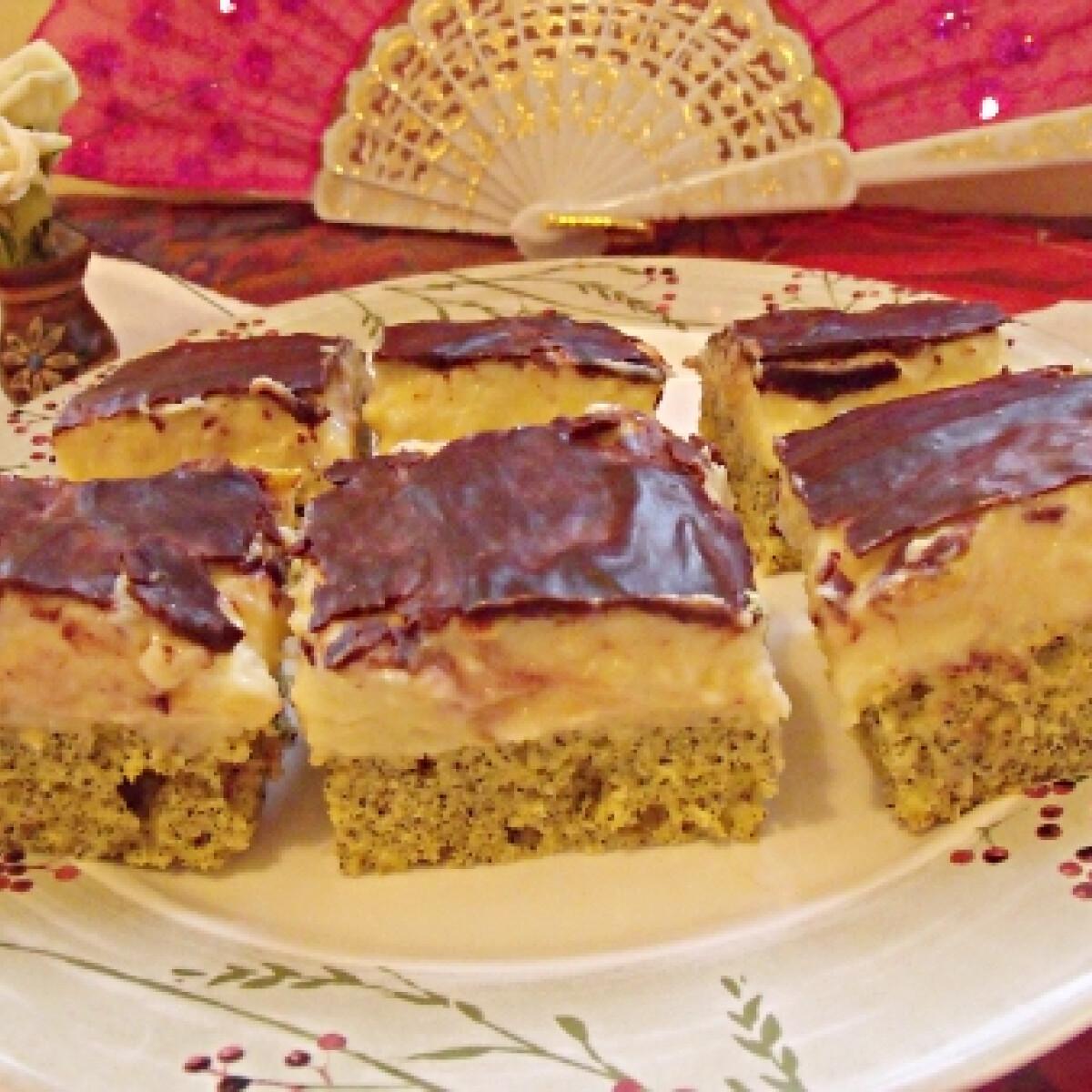 Mákos birsalmás krémes sütemény