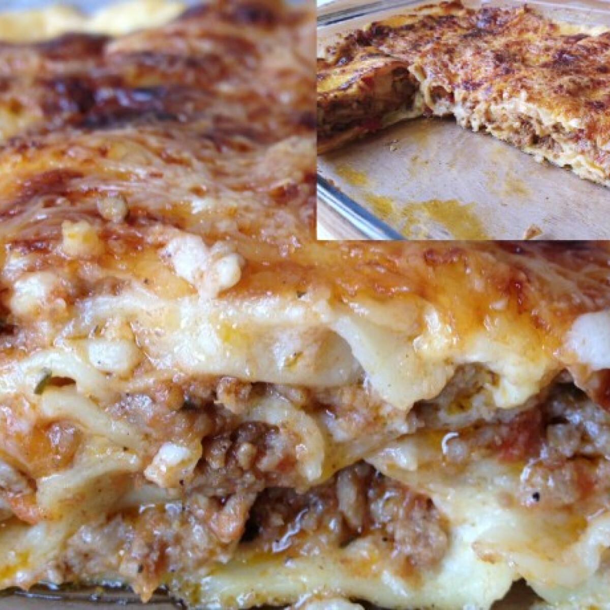 Ezen a képen: Lasagne házi tésztával