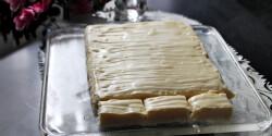 Fehércsokoládés bounty szelet
