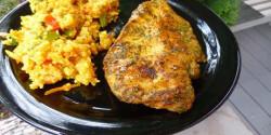 Grillezett csirkemell fűszeres páccal