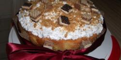 Mogyorós-tejszínes torta