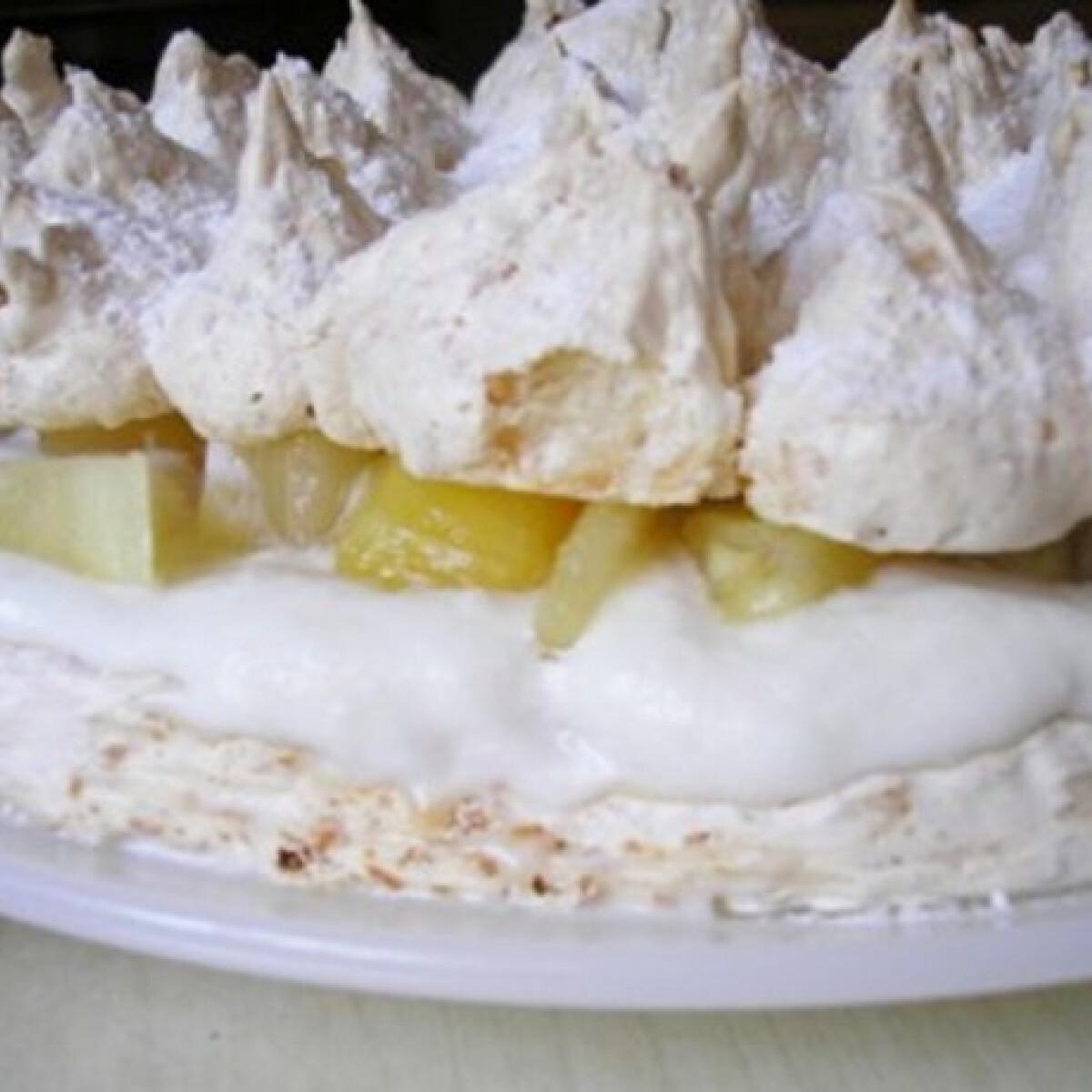 Ezen a képen: Pina Colada Pavlova-torta