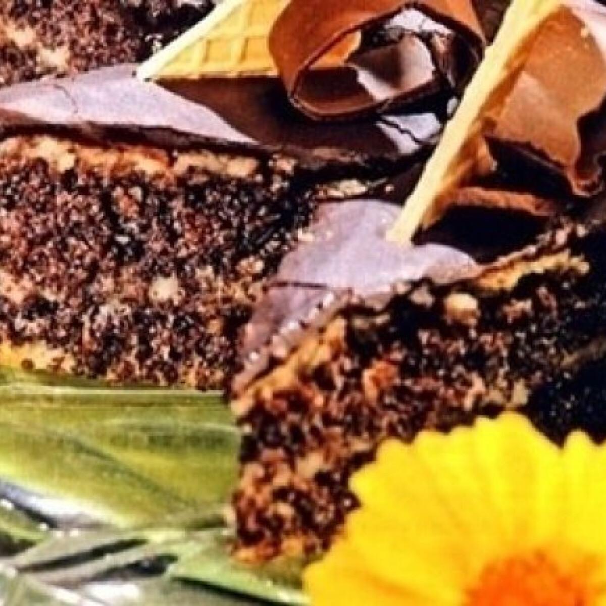 Ezen a képen: Zserbó szilvalekvárral, mákkal töltve