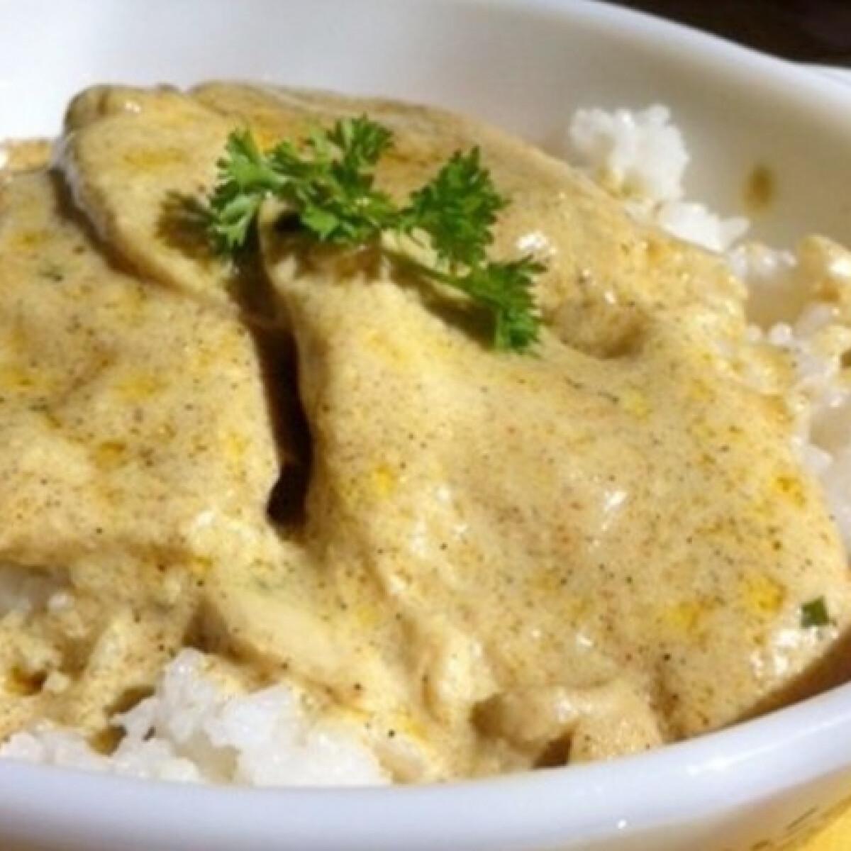 Ezen a képen: Mustáros csirkemell rizzsel