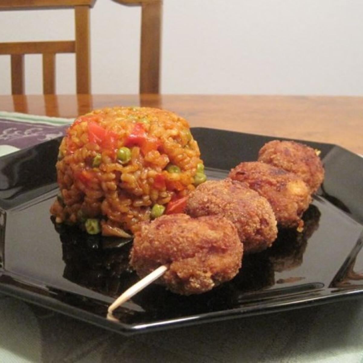 Ezen a képen: Djuveč rizs fasírtgolyóval