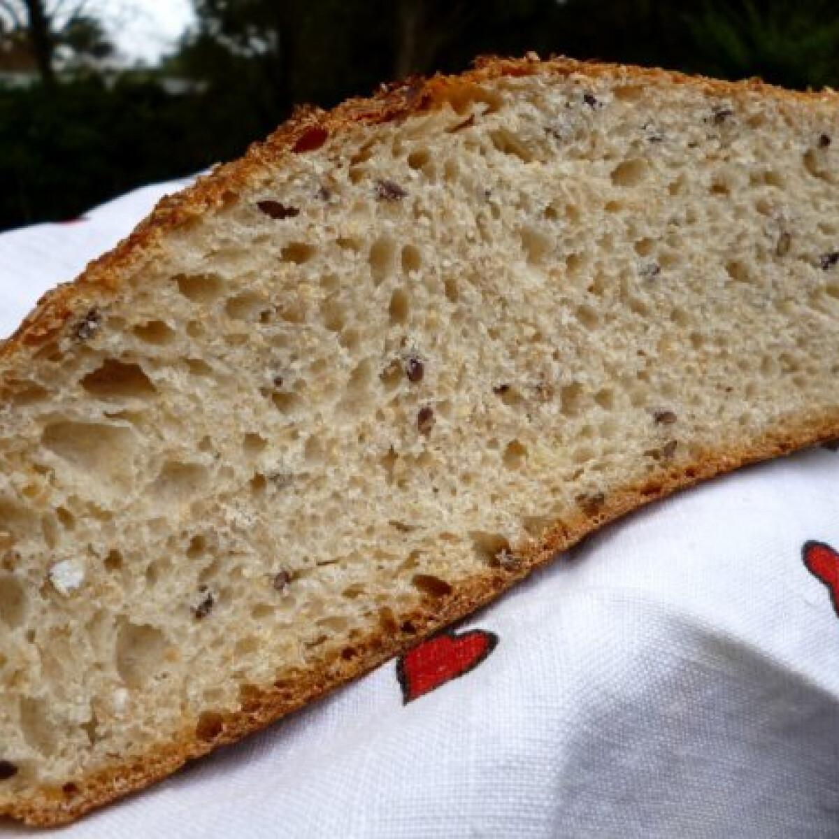 Ezen a képen: Hajdinamagos vadkovászos kenyér Tormától