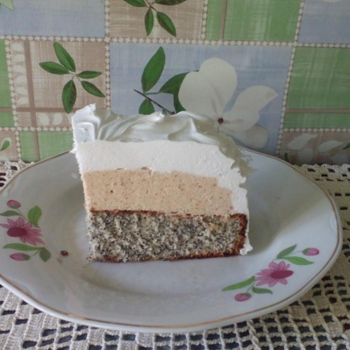 Mákos-kekszkrémes szelet
