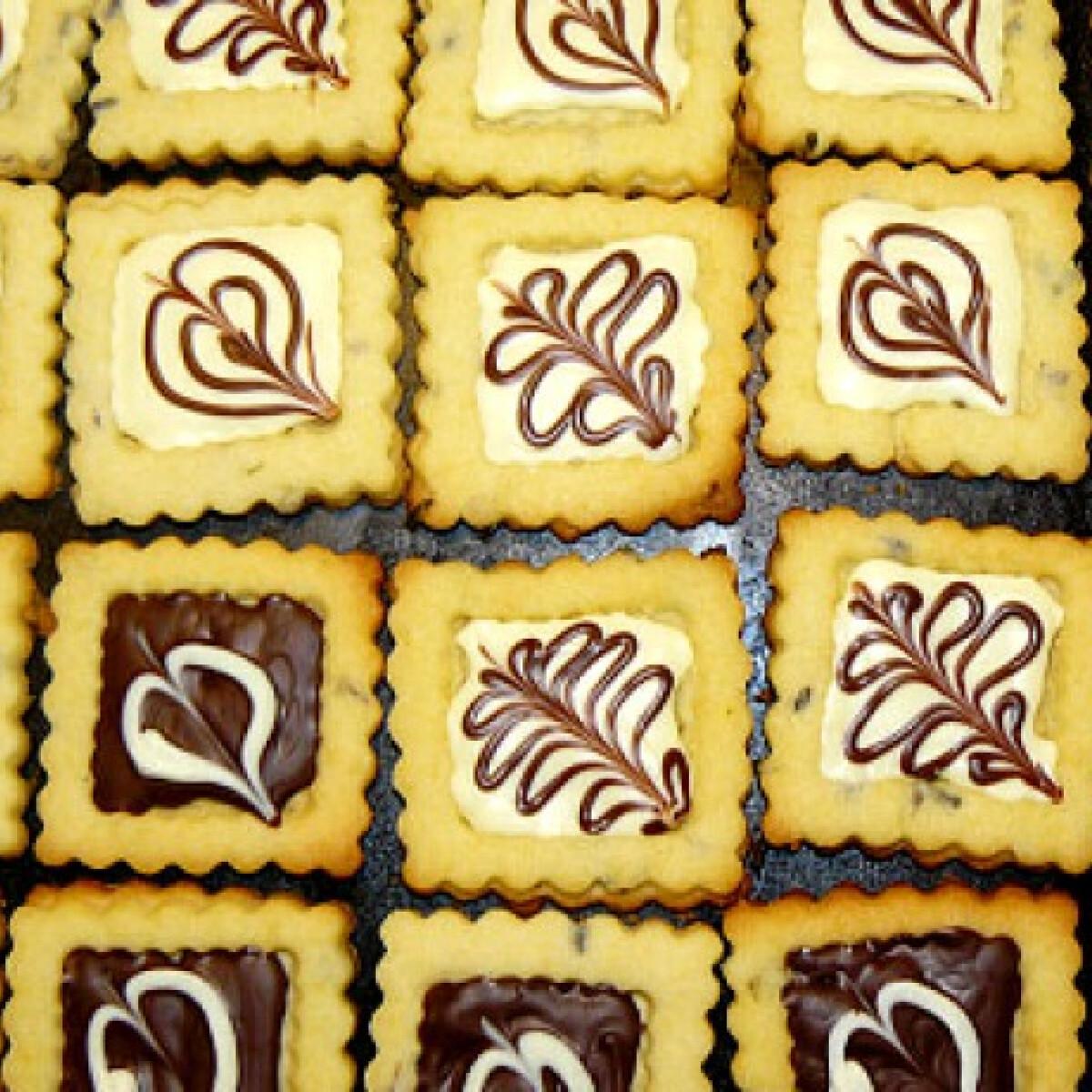 Levendulás-csokis linzer