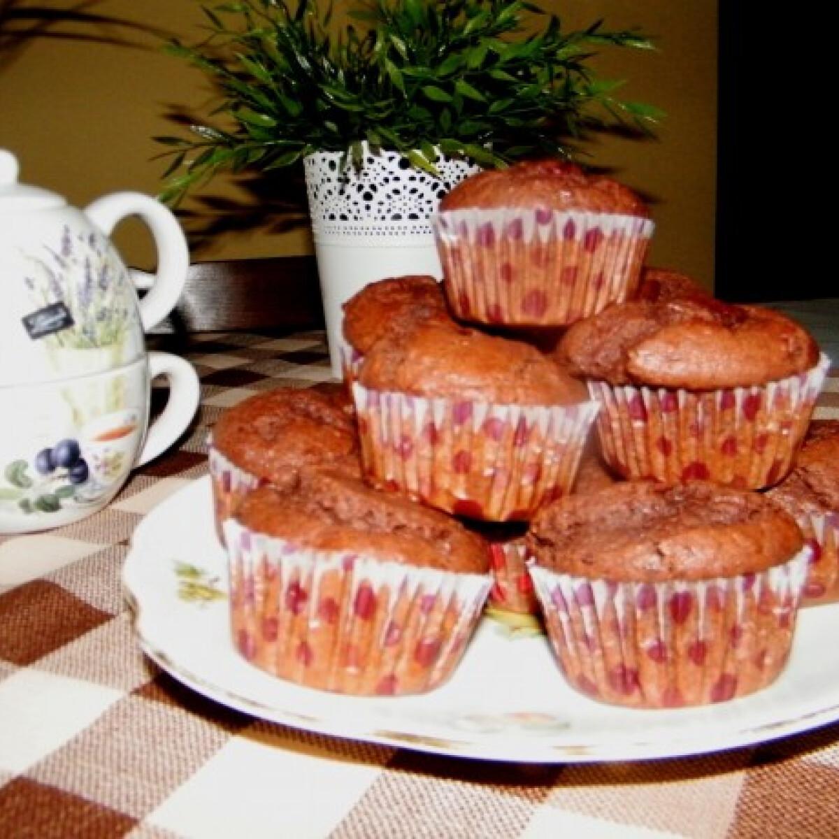 Ezen a képen: Kakaós-meggyes muffin Világom ízei konyhájából