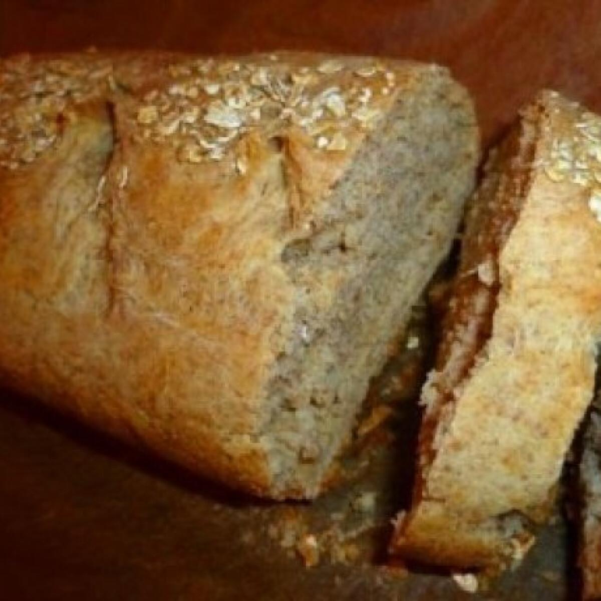Ezen a képen: Házi kenyér zabpehellyel