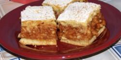 Dupla almás omlós süti