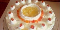Kókuszos-ananászos túrótorta