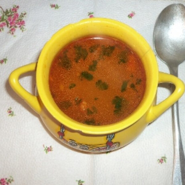 Téli leves spagetti tésztával