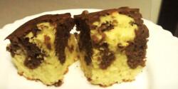 Márványos süti - poharas