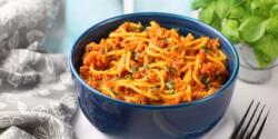 Bolognai spagetti egyszerűen és gyorsan