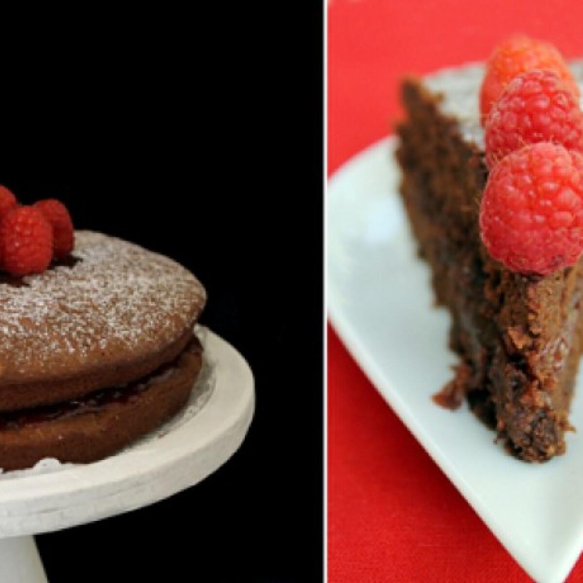 Ezen a képen: Csokoládés-mandulás torta