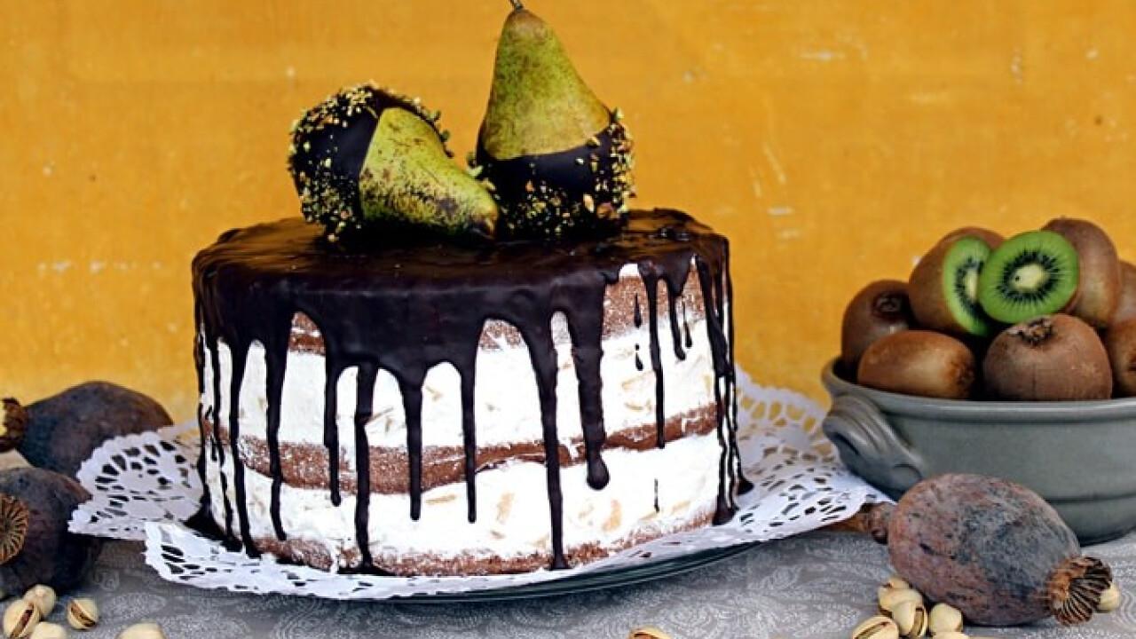 Körtekompót-torta