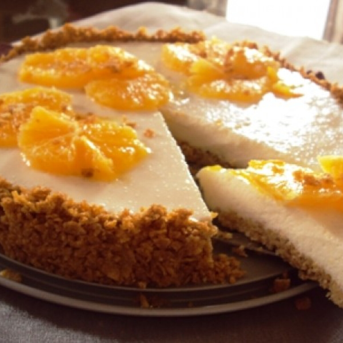 Görög joghurt és corn flakes torta