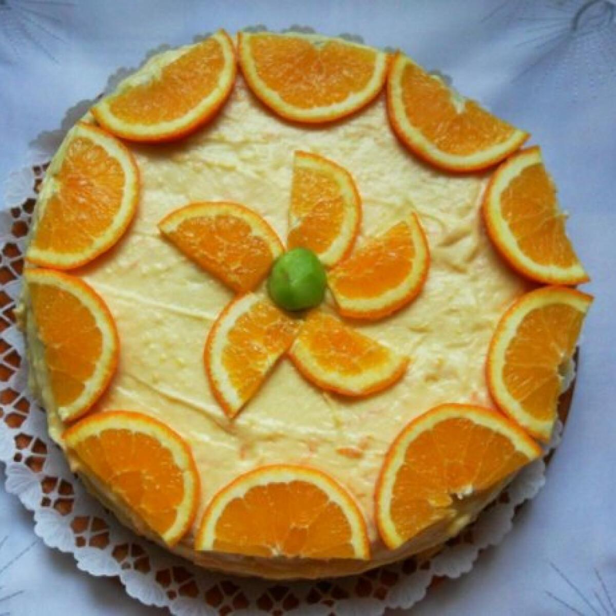 Ezen a képen: Narancstorta ahogy Csilla készíti