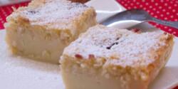 Egyszerű reform kókuszos-meggyes tejes pite
