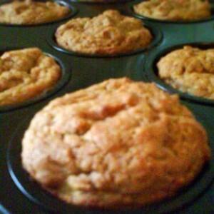Vegán almás-banános muffin