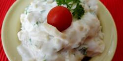 Majonézes zöldbabsaláta