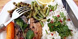 Fehérboros heringfilé zöldségekkel rizzsel