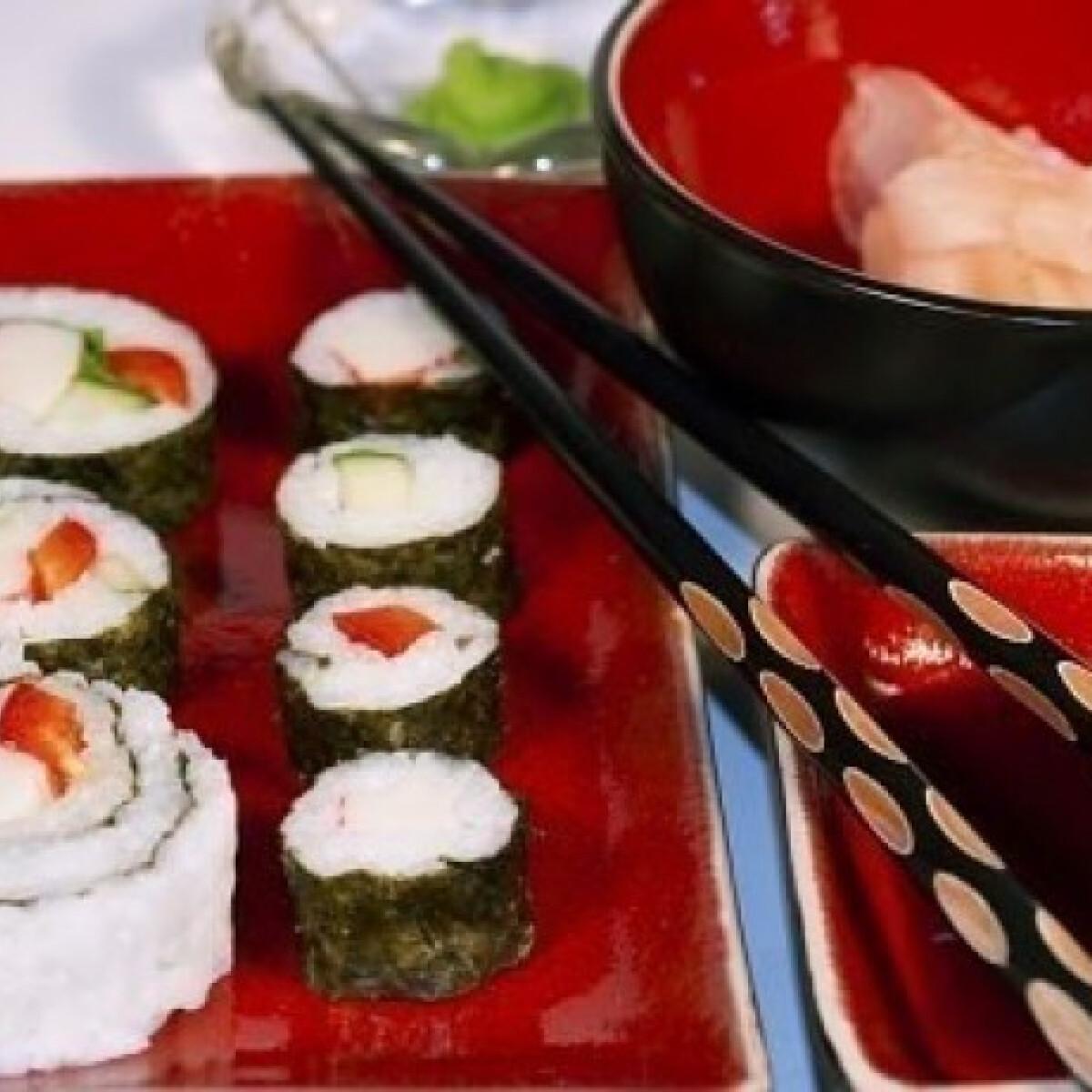 Ezen a képen: Sushi (maki, nagy maki és kifordított sushi)