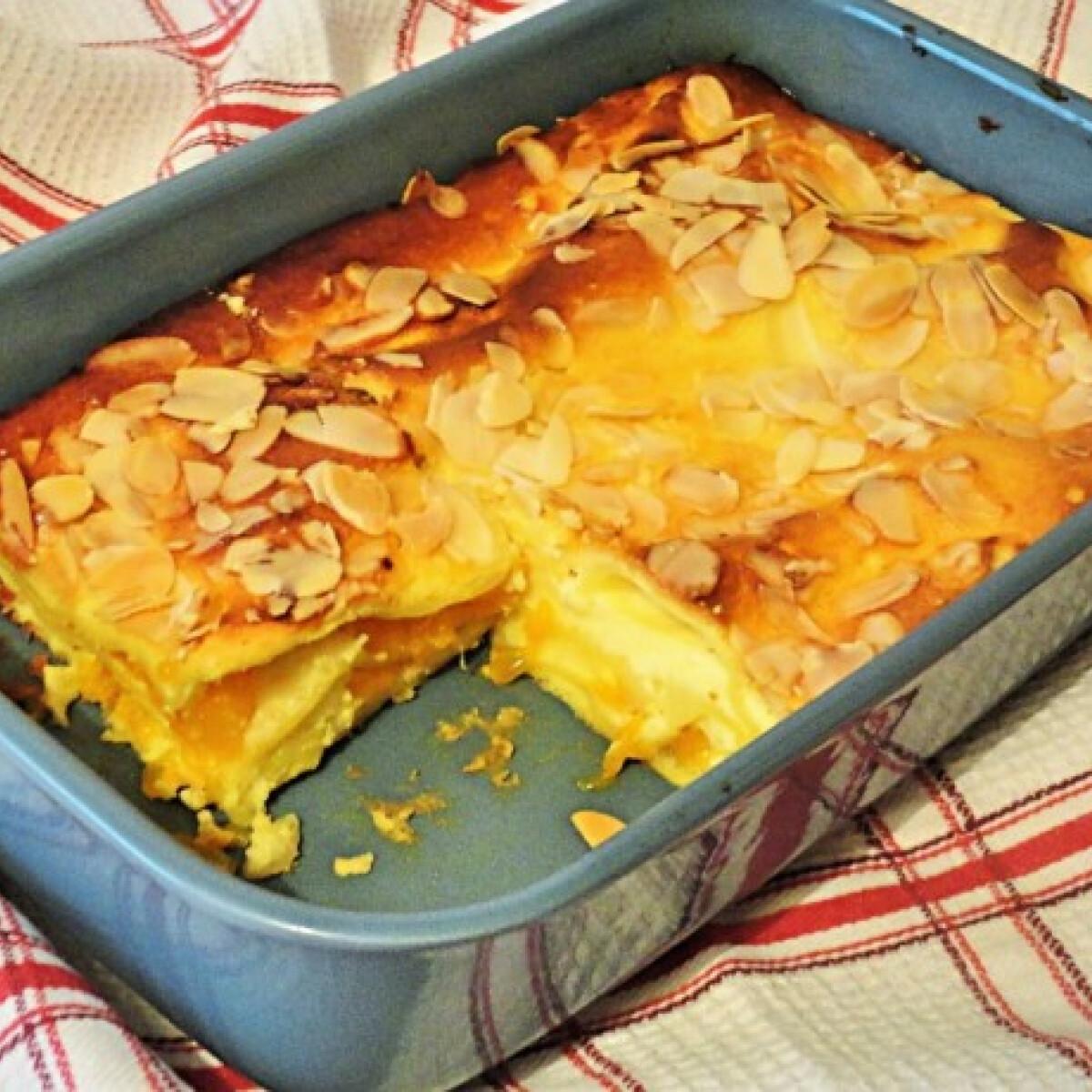 Édes lasagne vaníliás túróval