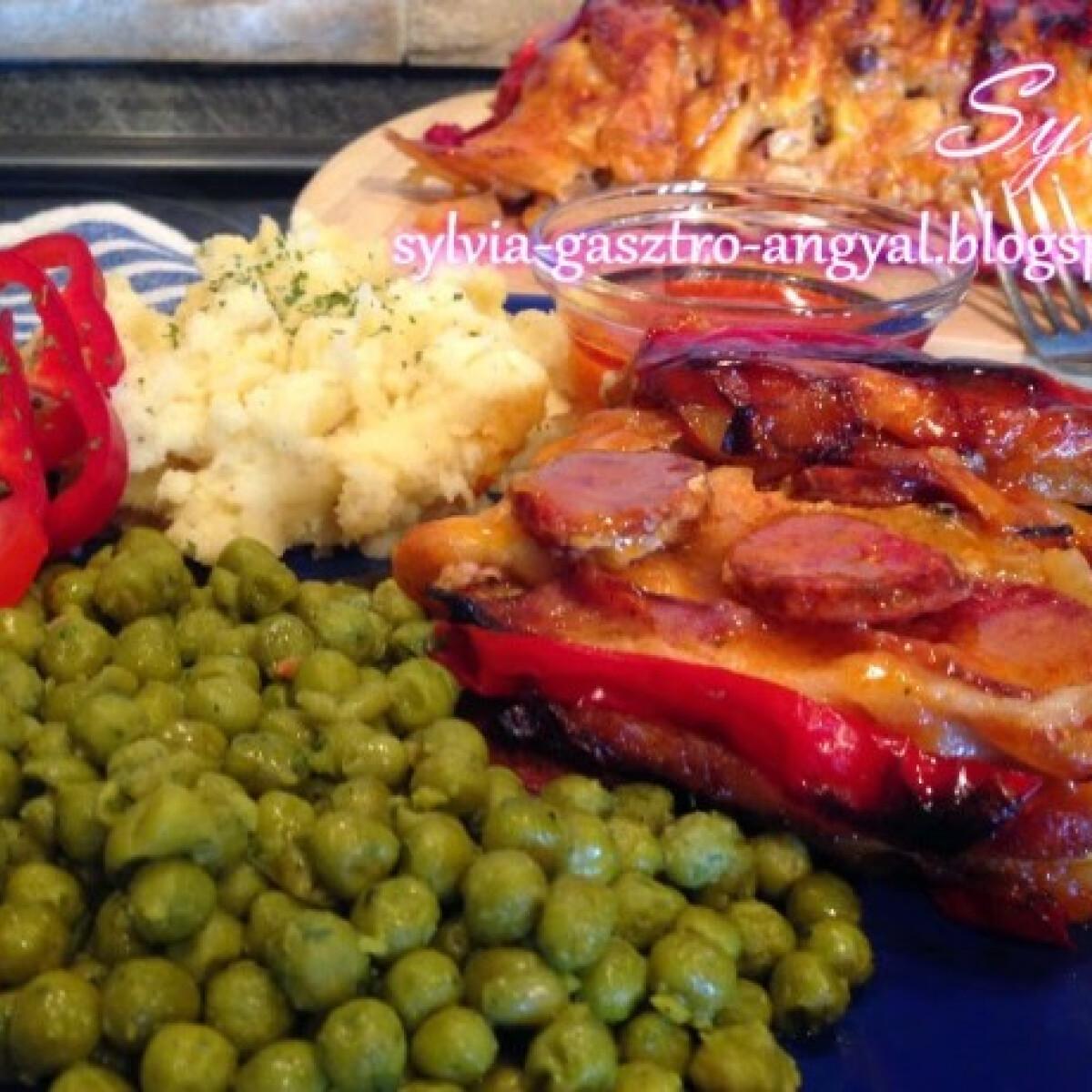Ezen a képen: Zsebes karaj Sylvia Gasztro Angyal konyhájából