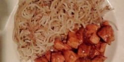 Bami curry-s csirkével
