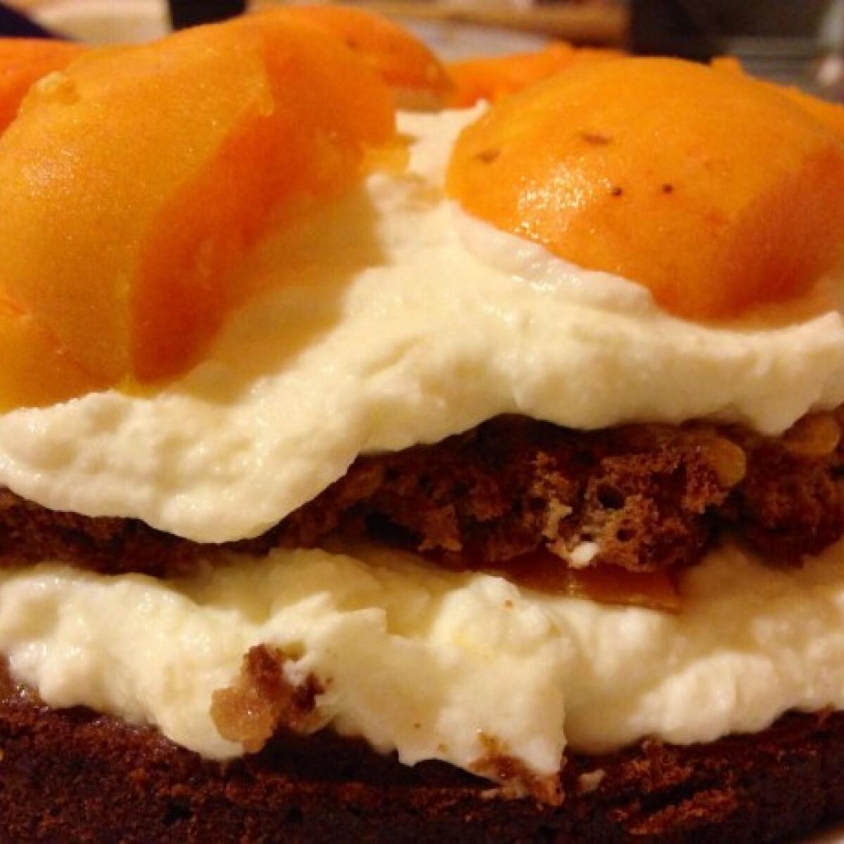 Cukor- és gluténmentes barackos-ricottás torta