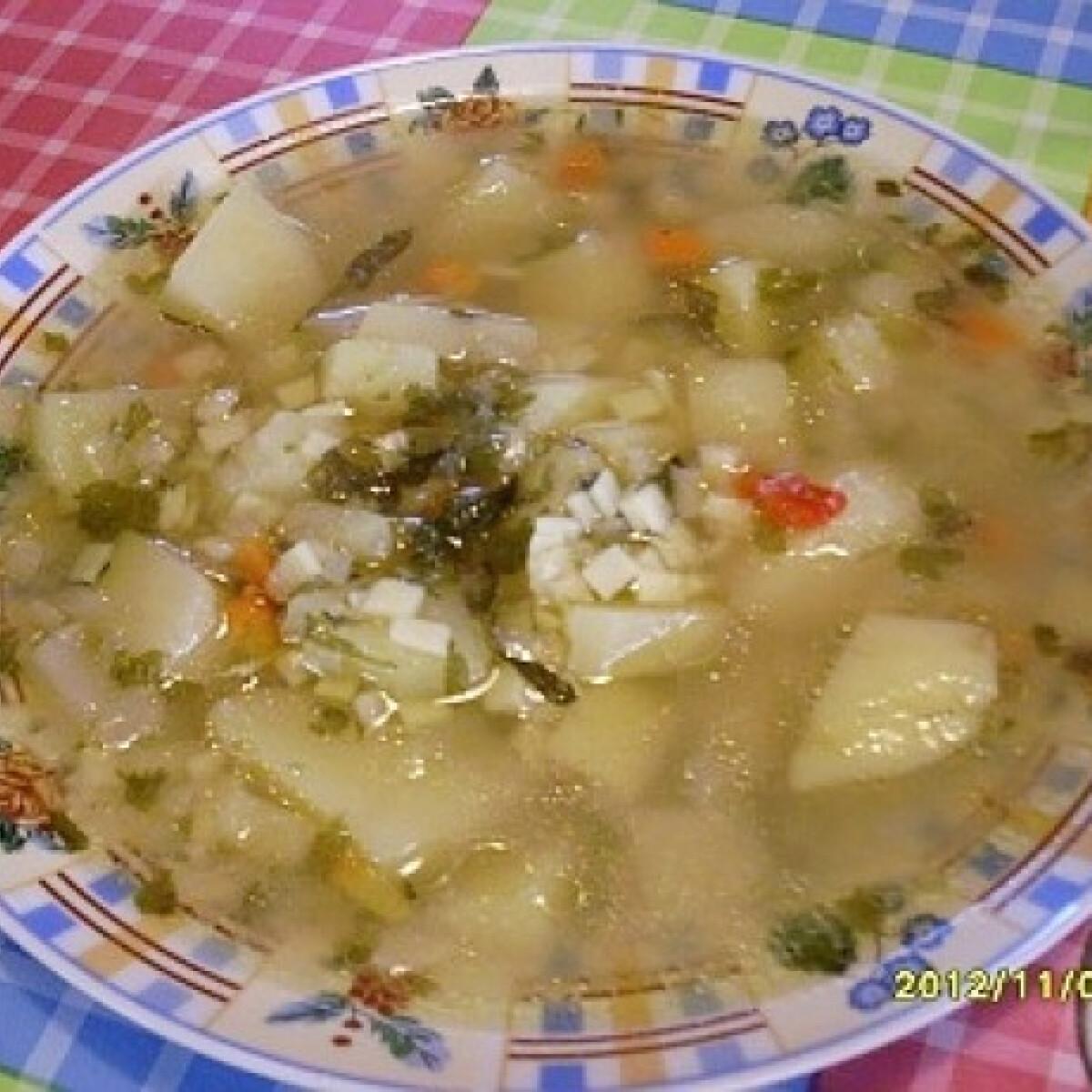 Ezen a képen: Kacsazsíron párolt zöldségleves