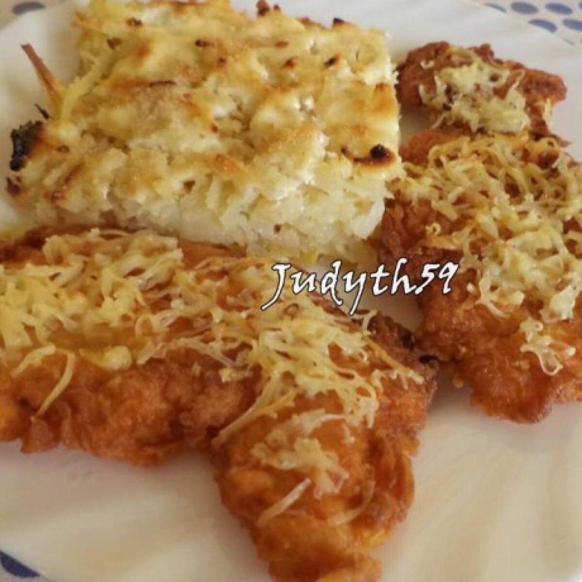 Ínyenc csirkemell háromsajtos burgonyakörettel