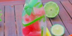 Hőségűző görögdinnyés-limeos limonádé mentával