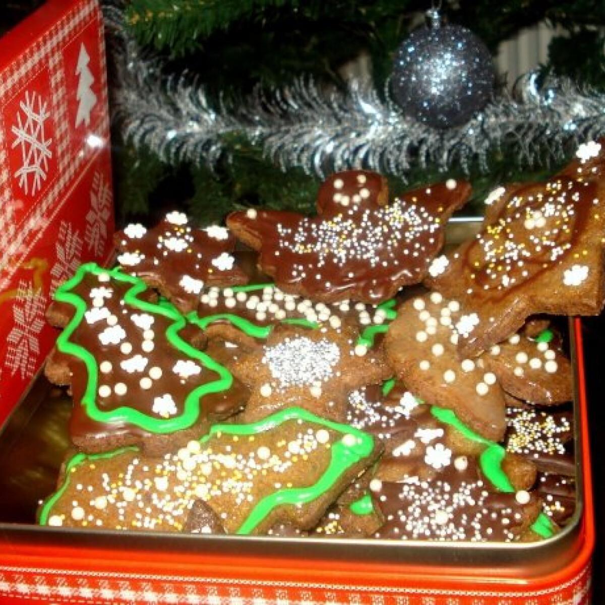 Ezen a képen: Karácsonyi almás-fahéjas keksz