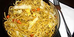 Zöldséges pirított tészta