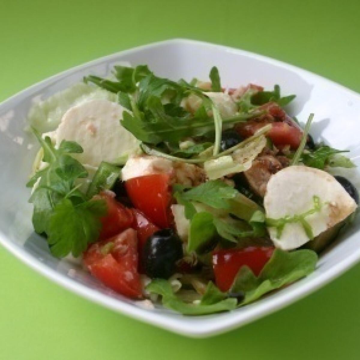 Ezen a képen: Mozzarellás-tonhalas saláta